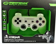 Corsair Gamepad Esperanza GX500 (PC/PS2/PS3) bílý