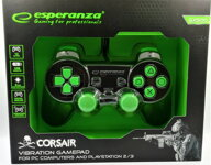Corsair Gamepad Esperanza GX500 (PC/PS2/PS3) černo-zelený