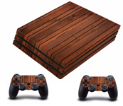 PS4 PRO polep WOOD