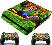 PS4 Slim polep Crash Bandicoot