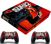 PS4 Slim polep Red Dead Redemption 2 V4