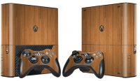 XBOX 360 E polep DARK WOOD